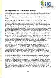 Der Pflanzenschutz vom Altertum bis zur Gegenwart - Julius Kühn ...