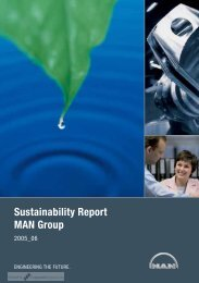 Sustainability Report MAN Group - CorporateRegister.com