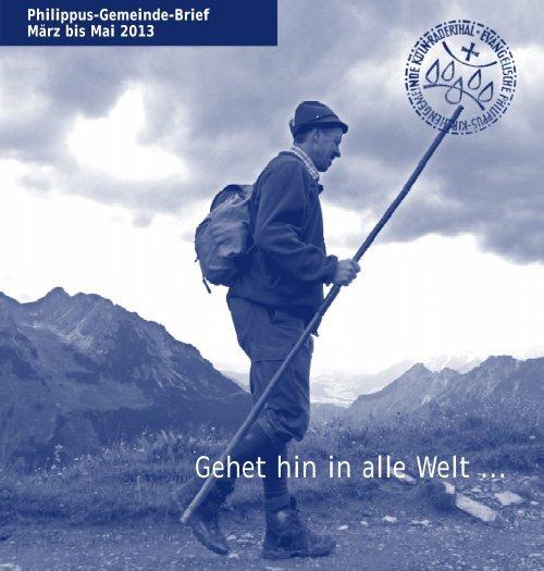 Philippus Gemeindebrief März - Mai 2013