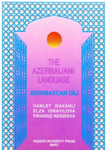The azerbaijan language.pdf - DSpace at Khazar University