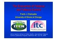The Economics of Tobacco Control - Impacteen