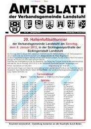 20. Hallenfußballturnier - Verbandsgemeinde Landstuhl