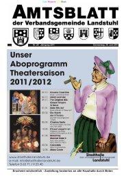 Unser Aboprogramm Theatersaison 2011/2012