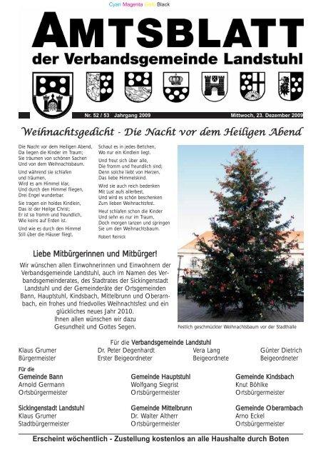 Weihnachtsgedicht - Die Nacht vor dem Heiligen Abend