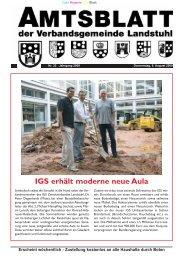 IGS erhält moderne neue Aula - Verbandsgemeinde Landstuhl
