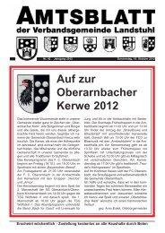 Auf zur Oberarnbacher Kerwe 2012 - Verbandsgemeinde Landstuhl