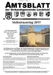 Volkstrauertag 2011 - Verbandsgemeinde Landstuhl