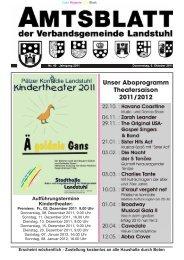 Unser Aboprogramm Theatersaison 2011/2012 Aufführungstermine ...