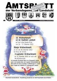 16. Weihnachtsmarkt vor der Stadthalle Landstuhl Hauptstuhler ...
