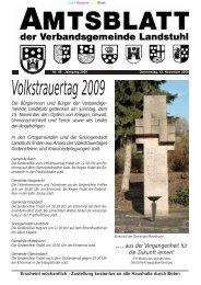 Volkstrauertag 2009 - Verbandsgemeinde Landstuhl