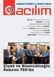 Açılım Sayı:24 Nisan/Mayıs 2012 - Samsun Ticaret ve Sanayi Odası
