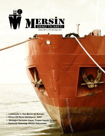 Ekim 2011 - Mersin Deniz Ticaret Odası