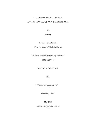 Dissertation - Alaska Native Knowledge Network - University of ...