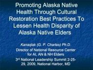 Promoting Alaska Native Health Through Cultural Restoration Best ...