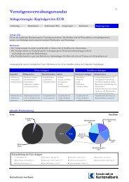 Vermögensverwaltungsmandat Anlagestrategie: Kapitalgewinn EUR