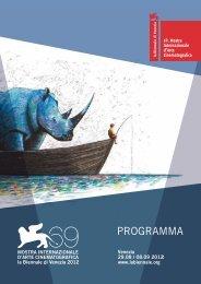 il calendario - La Biennale di Venezia