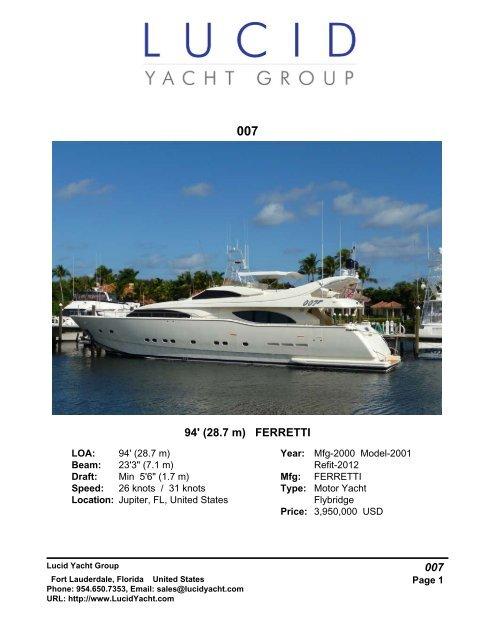 94' (28 7 m) FERRETTI 007 - Yachtcouncil org