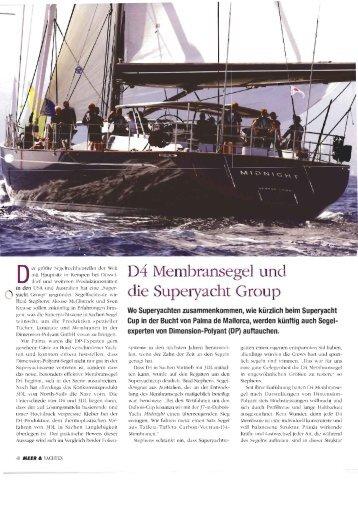 D4® Membransegel und die Superyacht Group (Meer und