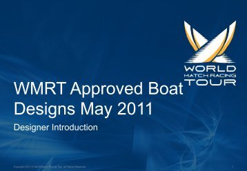WMRT Approved Boat Designs May 2011 - World Match Racing Tour