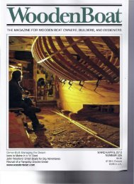 the magazine for wooden boat owners, builders, and ... - Dorade