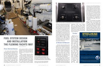 fuel system design and installation the fleming yachts way