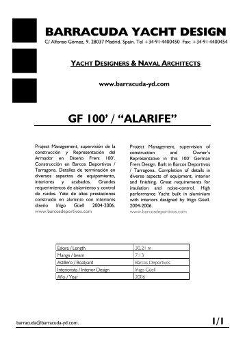 "BARRACUDA YACHT DESIGN GF 100' / ""ALARIFE"""
