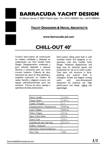 BARRACUDA YACHT DESIGN CHILL-OUT 40'