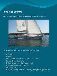 Välkommen till NB YACHTING - NB Yachting erbjuder skräddarsydd ...