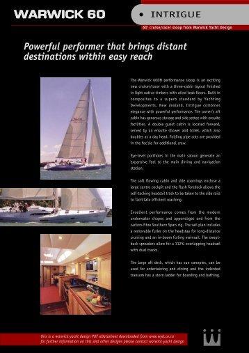 WARWICK 60 - Warwick Yacht Design