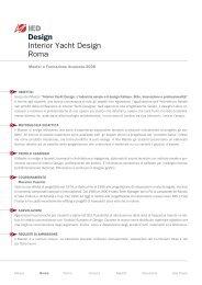 IED Design Interior Yacht Design Roma - Istituto Europeo di Design