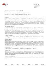 interior yacht design e sovrastrutture - Istituto Europeo di Design