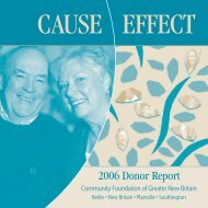 2006 Donor Report - Community Foundation of Greater New Britain