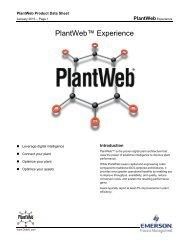 PlantWeb Experience - Emerson Process Management