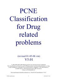 PCNE Classification scheme for Drug related problems-5.01 (revised)