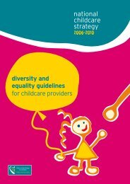 diversity and equality guidelines for childcare providers