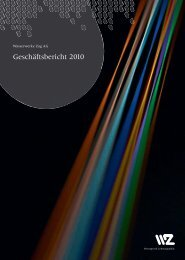 Geschäftsbericht 2010 - Wasserwerke Zug AG