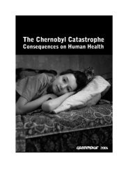 Consequences on Human Health - Greenpeace