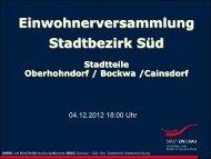 Präsentation zur Einwohnerversammlung am 4 ... - Stadt Zwickau