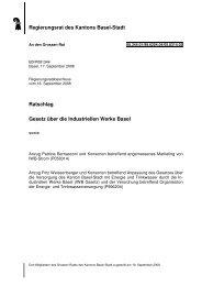 Ratschlag Gesetz über die Industriellen Werke Basel - Grosser Rat ...