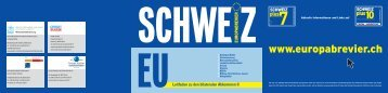 Europabrevier III, Schweiz - EU: Leitfaden zu den ... - ETH Zürich