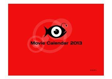 Movie Calendar 2013 - Brightfish