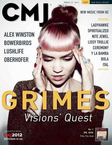 CMJ New Music Report - March 2012 - Tasting Grace