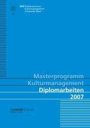 Diplomarbeiten 2007 - Kulturmanagement