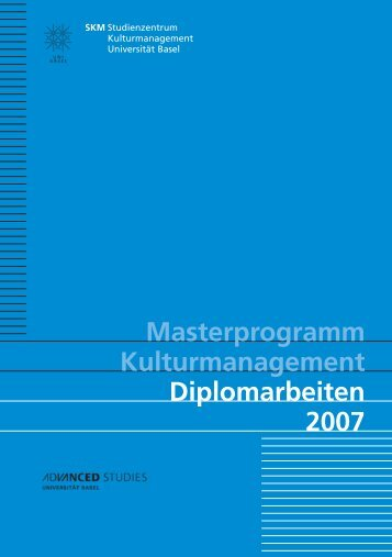 Diplomarbeiten 2007 - Kulturmanagement