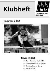 Sommer 2008 - Leichtathletik Klub Zug