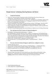 Beispiel Internet Anbindung DataZug-Business mit Router