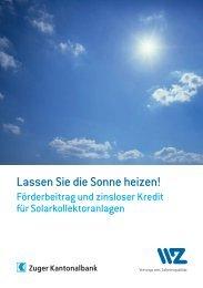 Lassen Sie die Sonne heizen! - Wasserwerke Zug AG