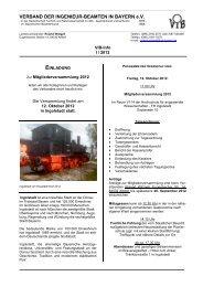 VIB-Info II/2012 - Verband der Ingenieur-Beamten in Bayern eV