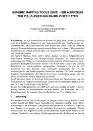 generic mapping tools (gmt) - Agrar- und Umweltwissenschaftliche ...