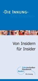 Info-Flyer - Zahntechniker Handwerk Baden